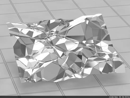 Crumpled Tin Foil In Vray step 8 - آموزش ساخت انواع متریال نقره ؛ برنز و فویل قلعی در vray