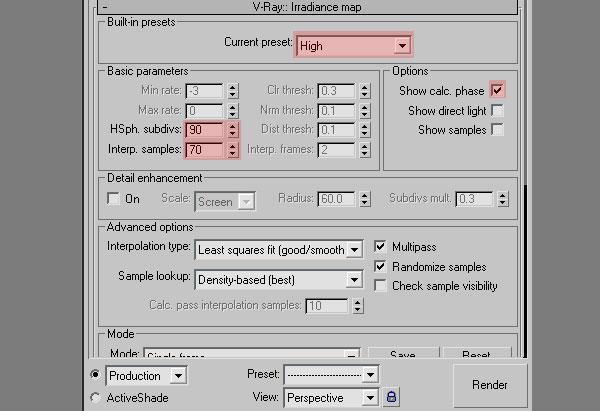3dmax interior lighting rendering15 - دست یابی به نتایج واقع بینانه برای روشنایی داخلی و رندر کردن با استفاده از 3Ds Max و V-Ray