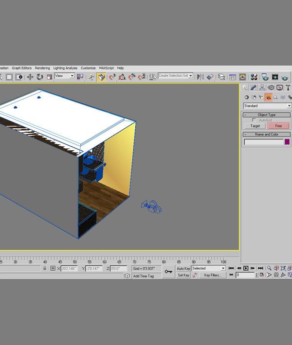 3dmax interior lighting rendering5 - دست یابی به نتایج واقع بینانه برای روشنایی داخلی و رندر کردن با استفاده از 3Ds Max و V-Ray