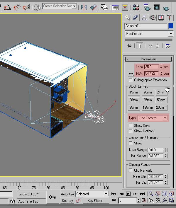 3dmax interior lighting rendering6 - دست یابی به نتایج واقع بینانه برای روشنایی داخلی و رندر کردن با استفاده از 3Ds Max و V-Ray