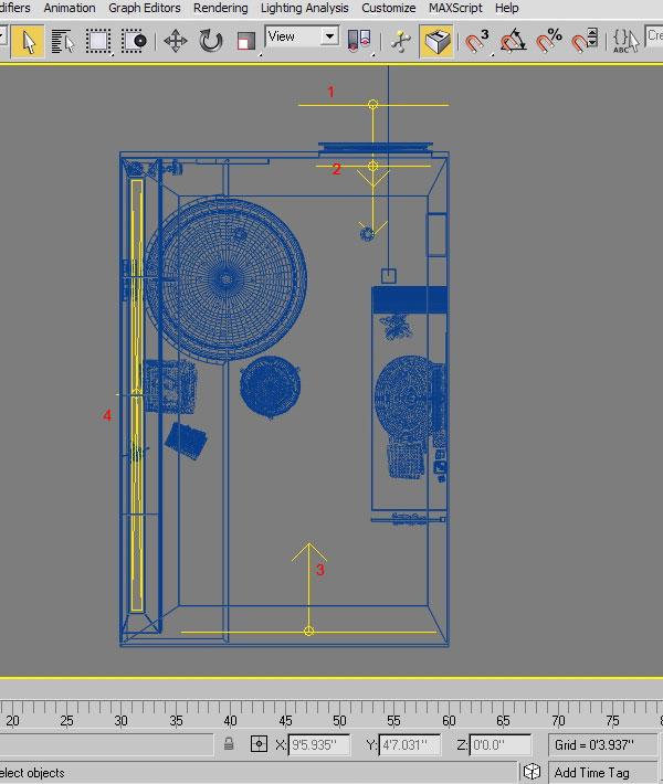 3dmax interior lighting rendering7 - دست یابی به نتایج واقع بینانه برای روشنایی داخلی و رندر کردن با استفاده از 3Ds Max و V-Ray
