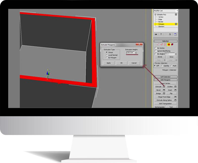 3dmax rendering modeling4 - مدل سازی و رندر محیط داخلی با استفاده از 3ds Max و Vray