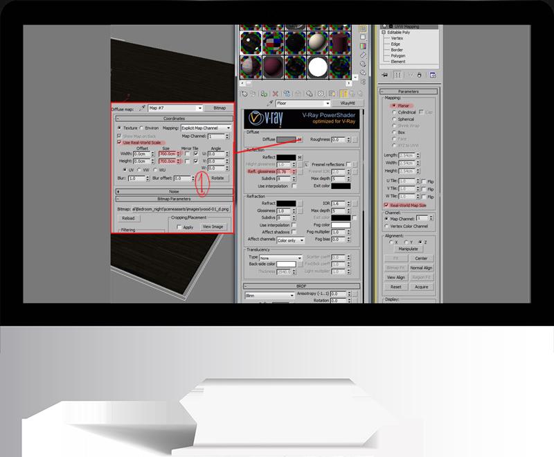 3dmax rendering modeling46 - مدل سازی و رندر محیط داخلی با استفاده از 3ds Max و Vray