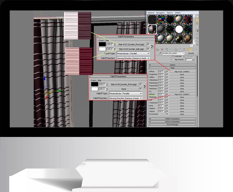 3dmax rendering modeling55 - مدل سازی و رندر محیط داخلی با استفاده از 3ds Max و Vray
