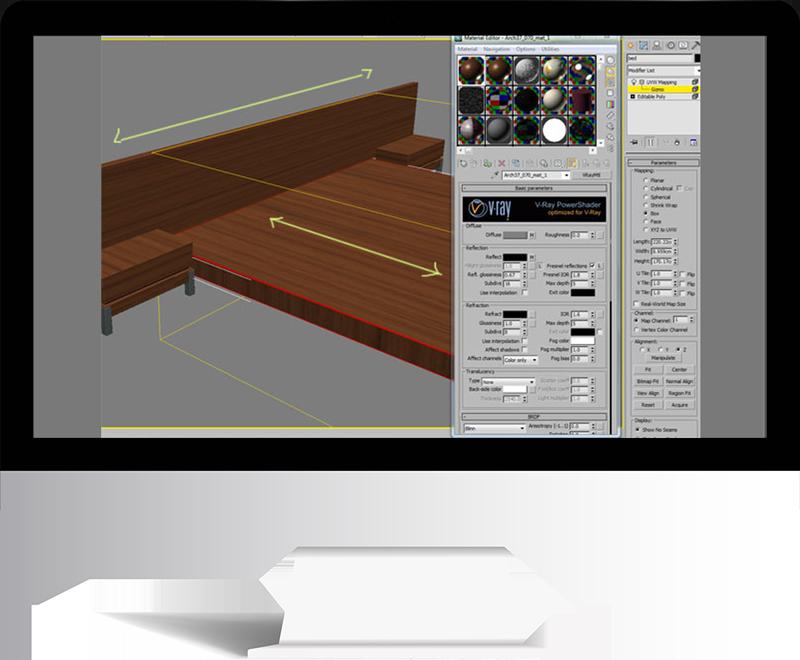 3dmax rendering modeling56 - مدل سازی و رندر محیط داخلی با استفاده از 3ds Max و Vray