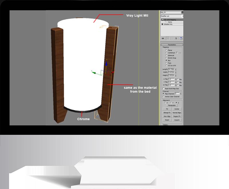 3dmax rendering modeling60 - مدل سازی و رندر محیط داخلی با استفاده از 3ds Max و Vray