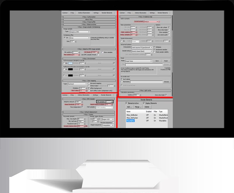 3dmax rendering modeling72 - مدل سازی و رندر محیط داخلی با استفاده از 3ds Max و Vray