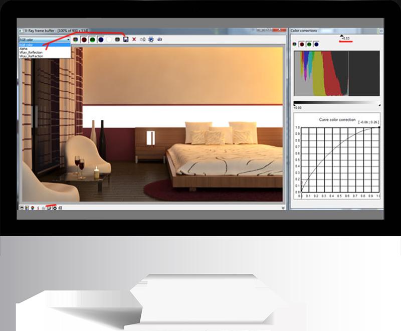 3dmax rendering modeling73 - مدل سازی و رندر محیط داخلی با استفاده از 3ds Max و Vray