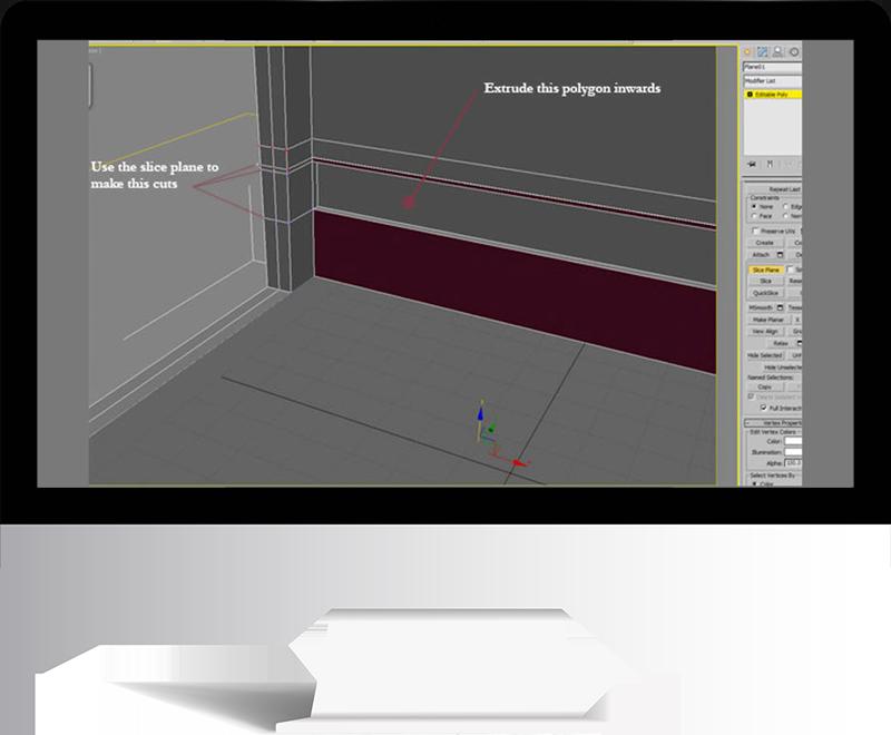 3dmax rendering modeling8 - مدل سازی و رندر محیط داخلی با استفاده از 3ds Max و Vray