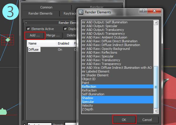 3dsmax multi pass rendering11 - رندر و ترکیب بندی چند مرحله ای یا مولتی پس در 3ds Max و After Effects