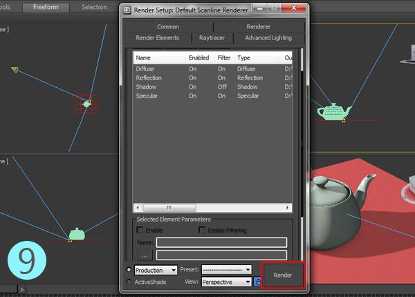 3dsmax multi pass rendering17 - رندر و ترکیب بندی چند مرحله ای یا مولتی پس در 3ds Max و After Effects
