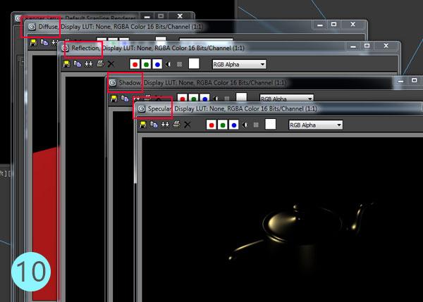 3dsmax multi pass rendering18 - رندر و ترکیب بندی چند مرحله ای یا مولتی پس در 3ds Max و After Effects