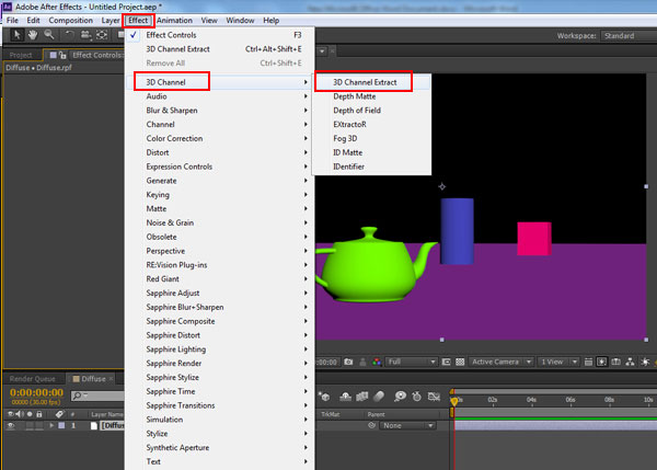 3dsmax multi pass rendering50 - رندر و ترکیب بندی چند مرحله ای یا مولتی پس در 3ds Max و After Effects