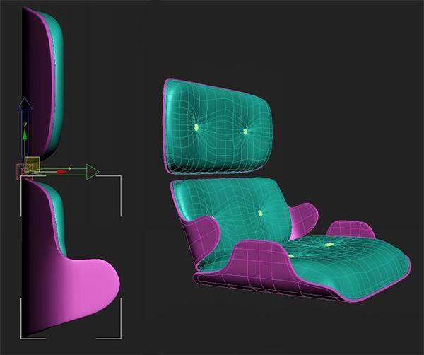 42 3dmax - آموزش مدلسازی با تری دی مکس ، مدلسازی صندلی ایمز لانژ
