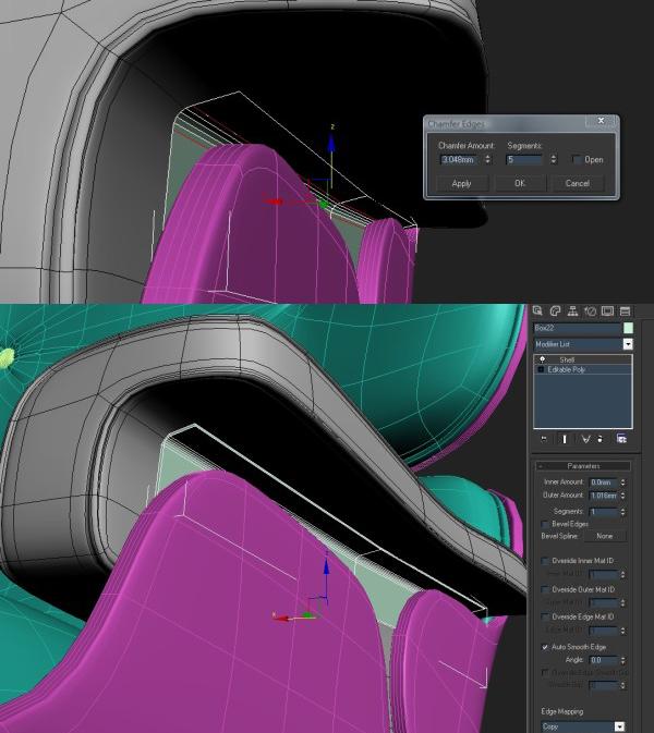 93 3dmax - آموزش مدلسازی با تری دی مکس ، مدلسازی صندلی ایمز لانژ