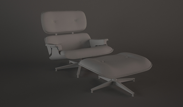 final2 1 - آموزش مدلسازی با تری دی مکس ، مدلسازی صندلی ایمز لانژ